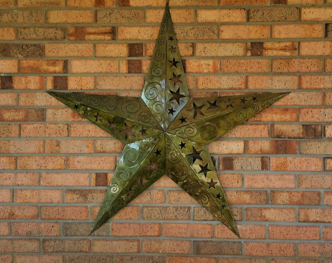 Large 3D Metal star, Metal Wall Decor, Handmade Wall Decor, Handmade Metal Star, Metal Wall Art, Outdoor Wall Decor, Outdoor Metal Art