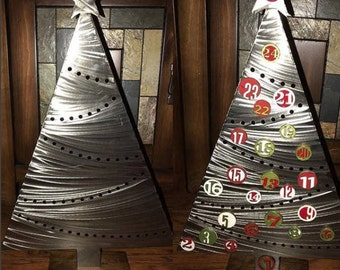 Magnetic Christmas Advent Calendar - Metal Christmas Tree- Family Traditions- Countdown to Christmas- Includes Number Magnets and Stand