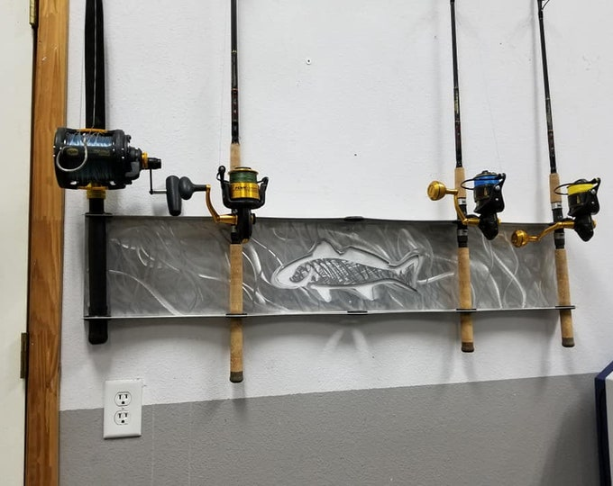 Mahi Fishing Rod Rack Made from Aluminum - Holds 5 Rods