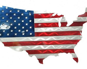 Aluminum American Flag of the United States Made in the USA