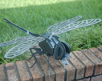 Metal Dragonfly, 3D Dragonfly, Dragonfly Garden Art, Outdoor Dragonfly Sculpture, Dragonfly Puzzle, Dragonfly Decor, Dragonfly Metal Art