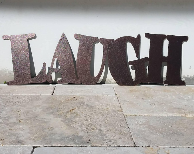 Metal Laugh Sign - Metal Letters - Metal Wall Art - Live Laugh Love - Outdoor Decor - Home Decor - Word Art - Quote Set - Wall Art Metal
