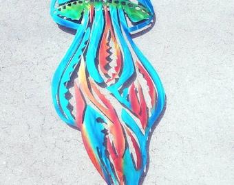 Aluminum Jellyfish Art, Jellyfish Decor, Jellyfish Design, Jellyfish Wall Decor, Beach House Wall Decor, Handmade Ocean Art, Jellyfish Metal
