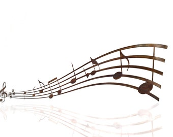 Music Notes Metal Wall Art, Musical Art, Music Lover, Treble Clef, Woodwind Instruments, Piano Player