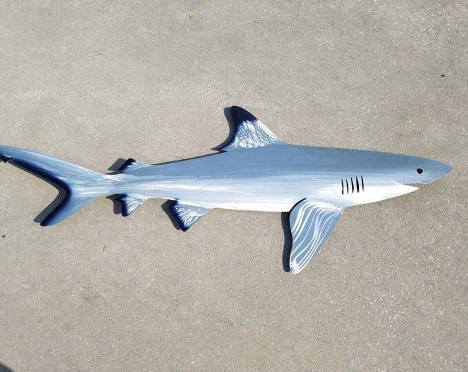 Black Tip Shark Art, Metal Wall Art, Metal Fish Art, Metal Ocean Art, Fishing Gift, Tropical Decor, Tropical Fish Art, Handmade Fish Art