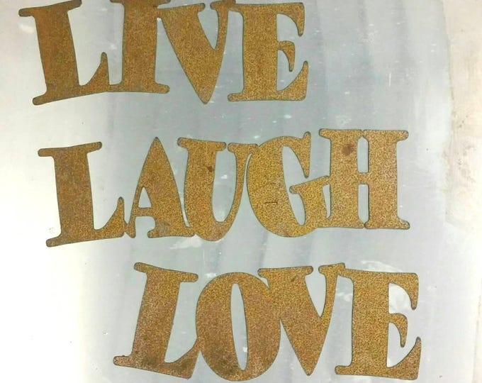 Live Laugh Love Sign for Home or Outdoor Decor Made from Rust Free Aluminum
