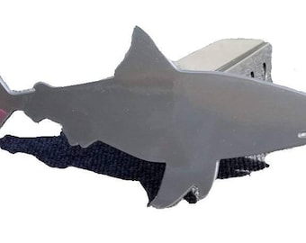 Chrome Daddy Shark License plate Cover, Bull Shark license plate for Husband or Dad