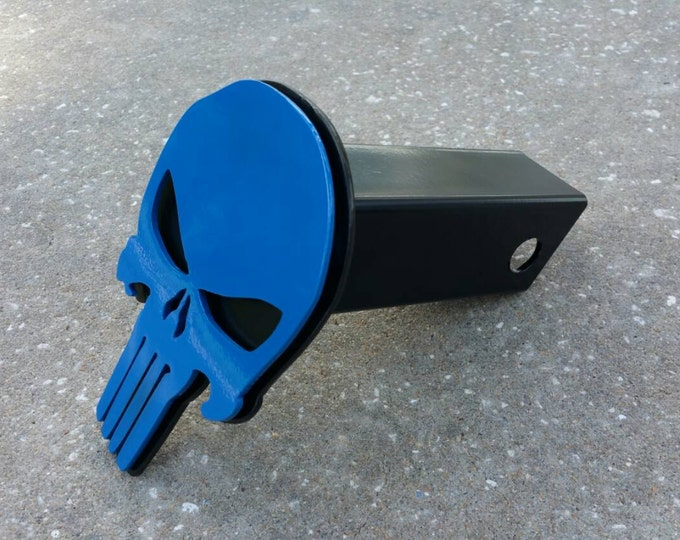 Punisher trailer hitch cover thin blue line