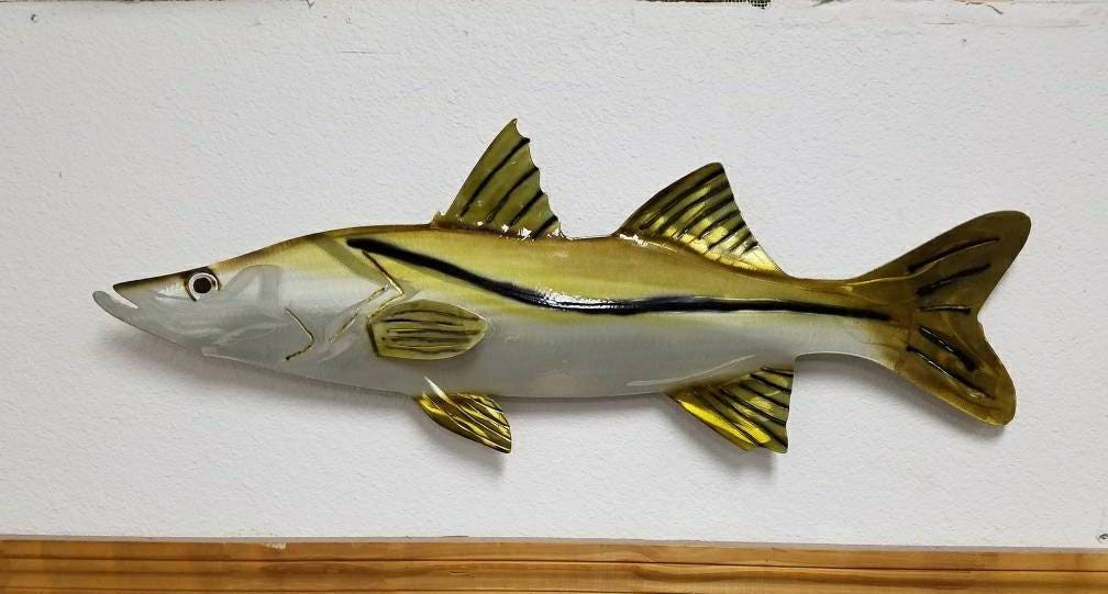 Aluminum Snook Wall Art, Fishing Enthusiast, Father\'s Day Gift ...