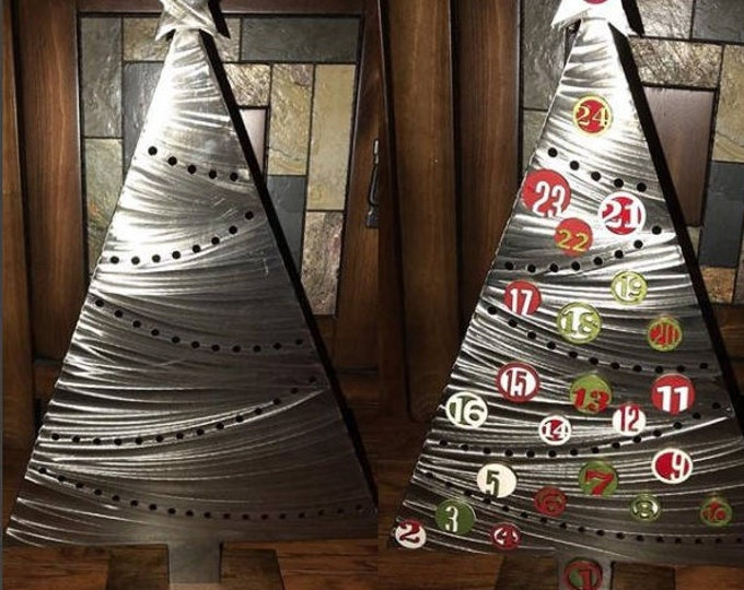 DIY Magnetic Christmas Advent Calendar - Metal Christmas Tree- Family Traditions- Countdown to Christmas- Includes Number Magnets and Stand