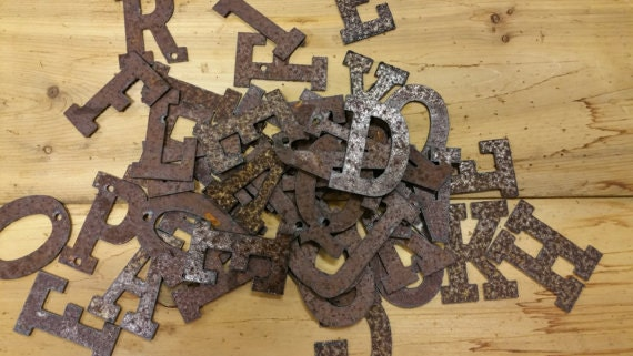 Rustic Metal Letters Rustic Metal Numbers Diy Projects Diy Signs