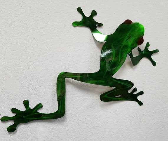 Tree Frog Wall Art Tree Frog Metal Art Stainless Steel Wall | Etsy
