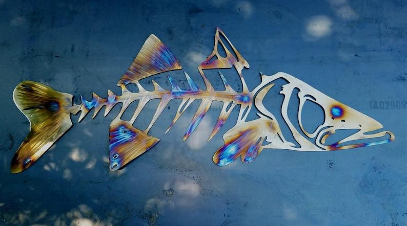 Snook Metal Wall Art Snook Skeleton Art Metal Fish Wall Art Metal Snook Ocean Wall Art Outdoor Metal Wall Art Fishing Anniversary Gift