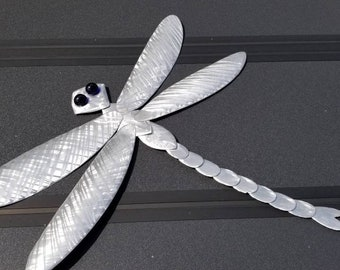3D Metal Dragonfly Hand Cut and Shaped from Aluminum, Will Not Rust, Great for Outdoor Use for Deck or Garden, Mother's Day Gift Idea