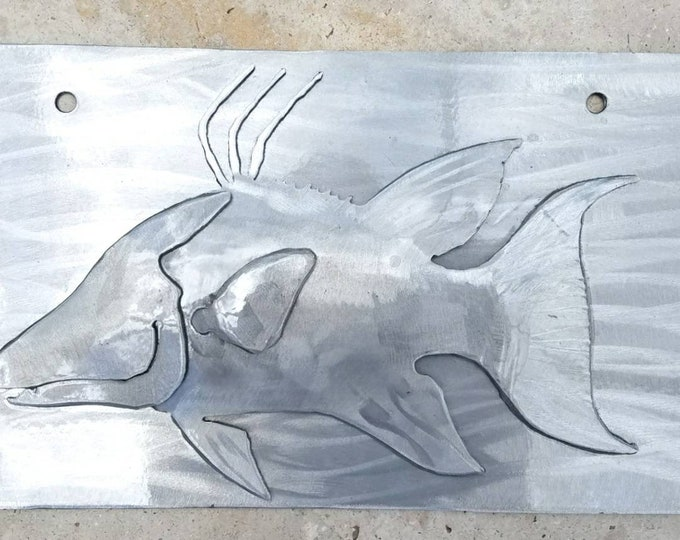 Hogfish Front License Plate, License Plate Fishing, Front Fish License Plate, License Plate Men, License Plate Art, Plate Frame