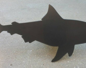Daddy Shark Trailer Hitch Cover, Bull Shark Hitch Plug for Husband or Dad in Black