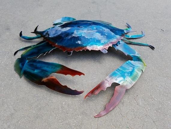 Handmade Metal Crab Wall Art | Etsy