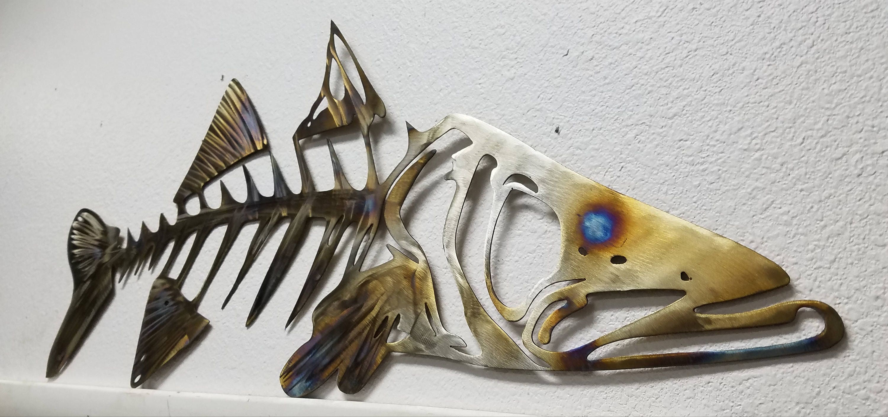 Snook Metal Wall Art Snook Skeleton Art Metal Fish Wall Art Metal Snook Ocean Wall Art Outdoor Metal Wall Art Fishing Anniversary Gift