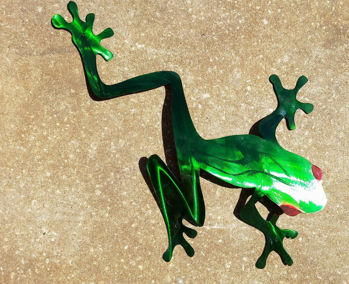 Tree Frog Wall Art, Tree Frog Metal Art, Stainless Steel Wall Decor ...