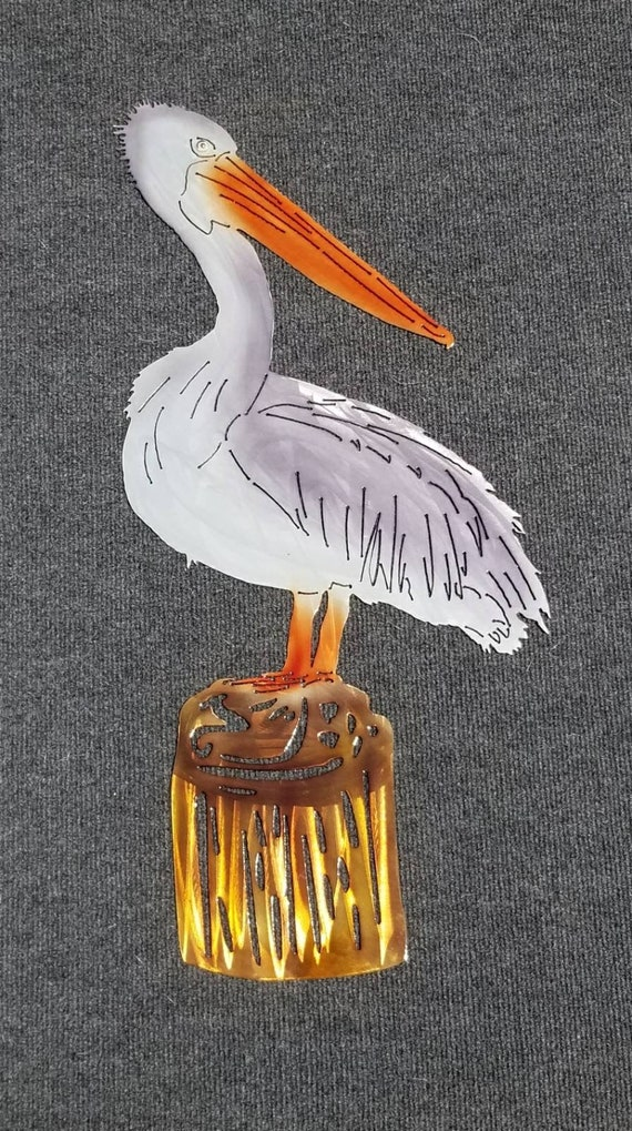 Pelican Wall Art Metal Pelican Sea Bird Home Decor Coastal | Etsy