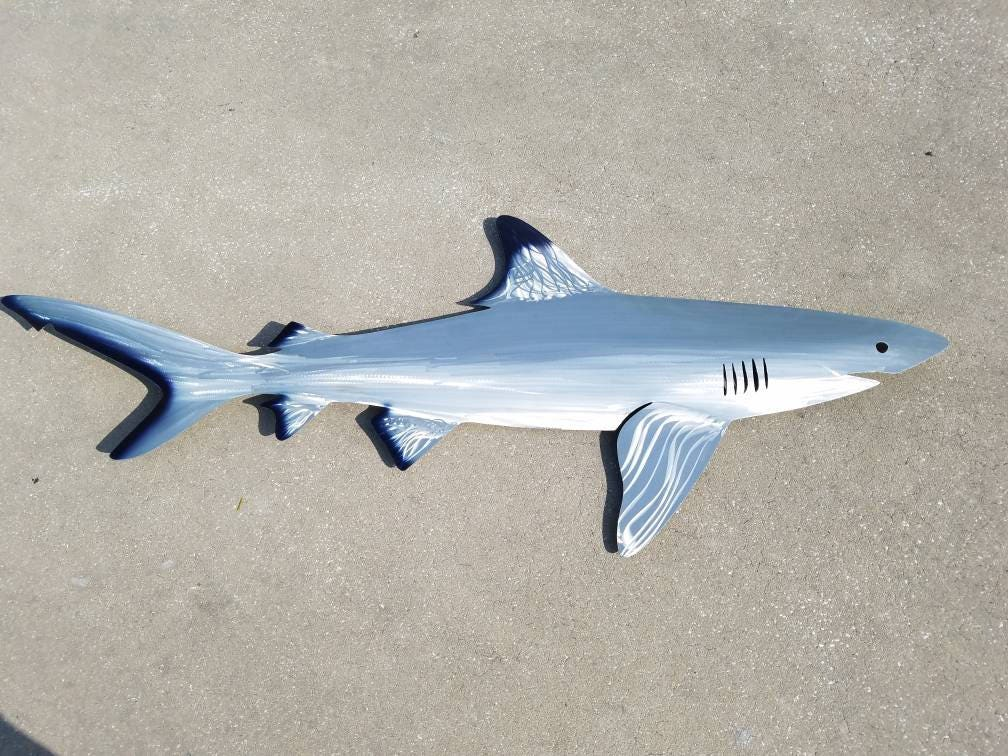Black Tip Shark Art, Metal Wall Art, Metal Fish Art, Metal Ocean Art ...