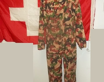 7e8099ba53a1 Swiss Army tanker coveralls in Alpenflage camo vintage item size 50-88 US  large long gently worn readily wearable presentable collectible
