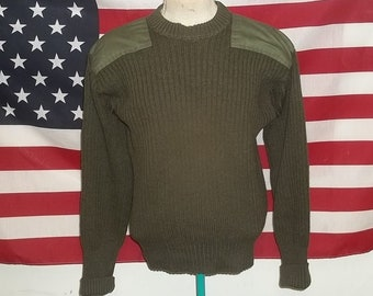 2311d0fe65 Vintage Cabela military style sweater wool for hunting and outdoors olive  color large size gently worn in good condition warm presentable