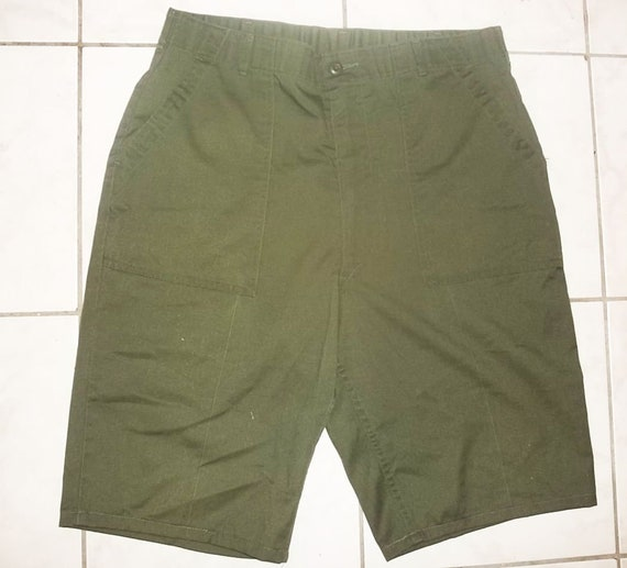 Vintage US Army Durapress utility shorts cutoffs from OG-507 pants olive color W37 gently worn laundered clean new LOWERED pRICE