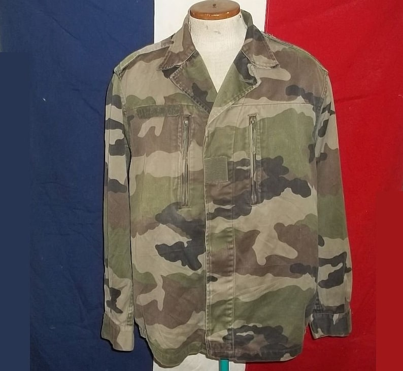 eec175b3613cf Vintage French Army BDU CE field shirt jacket Centre Europe | Etsy