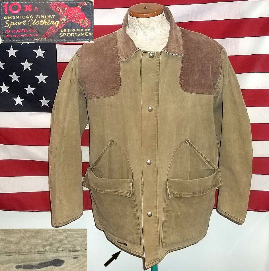 1960s 10X Walls Hunting Coat Jacket America's Finest Hunting Clothing size  large olive color good condition neat presentable