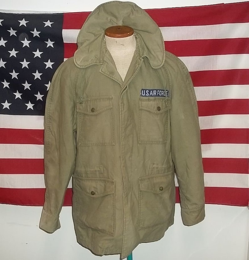 5a3a5a2a3c7f8 USAF field jacket with hood military air force Vietnam war | Etsy