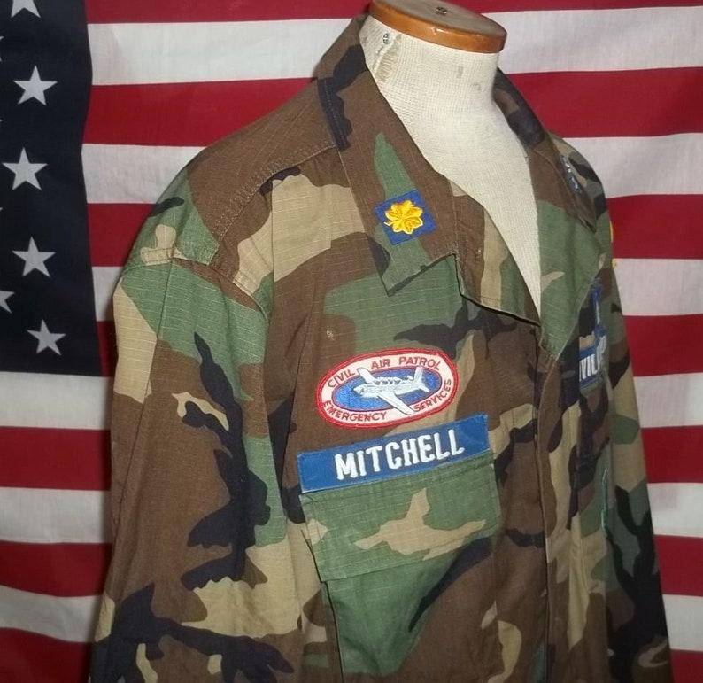 87e399f0b4c5a Vintage US Civil Air Patrol BDU field shirt woodland camo   Etsy