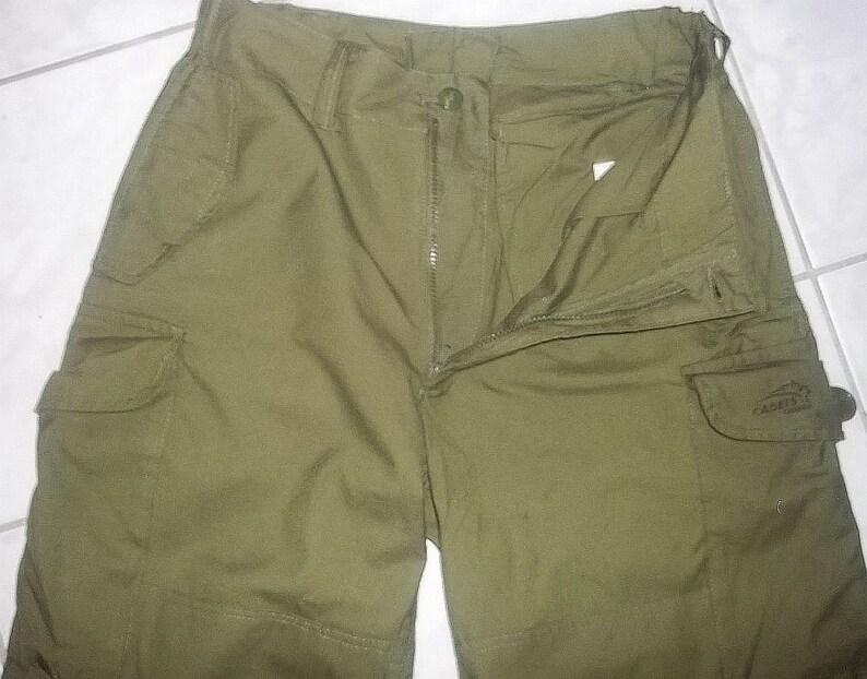 Vintage Canadian Forces cadet uniform pants field combat BDU size 6734 W35  L28 olive drab color barely worn mint condition collectible