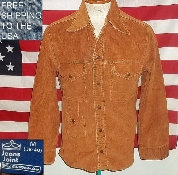 Vintage SEARS corduroy shirt Jeans Joint overshirt