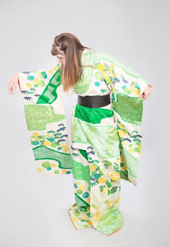 KIMONO VINTAGE /  tomesode kimono / silk kimono /… - image 3