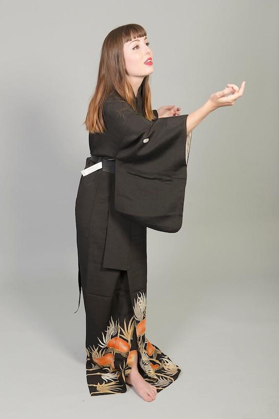 KIMONO VINTAGE / tomesode kimono / silk kimono / v