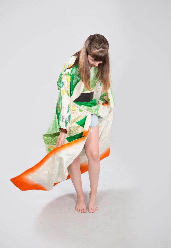 KIMONO VINTAGE /  tomesode kimono / silk kimono /… - image 2