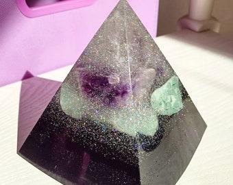 OOOPSIE!!! Gemstone & Shungite Orgonite®  Pyramid