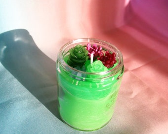 Succulent Homemade Candle