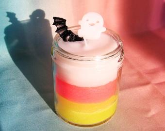 Halloween Candy Corn Homemade Candle
