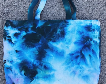 Ice Dyed Tote Bag - Teal