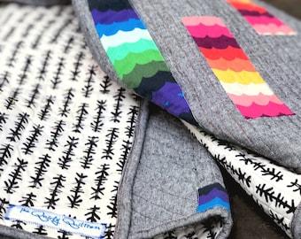 Handmade Modern Rainbow Quilt Made to Order - LGBTQ Pride