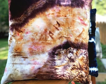 Rust Dyed Throw Pillow