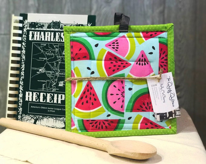 Watermelons Quilted Pot Holders