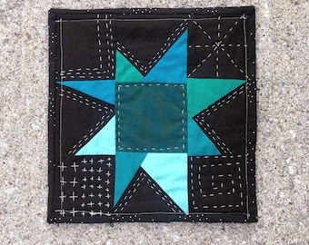 Hand Quilted Wonky Star
