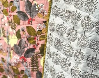 Mauve Botanical Quilt