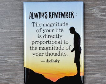The Power of Positive Thinking is a decorative quote magnet to help you stay positive and inspired. Perfect gift for any occasion.