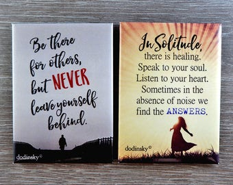 Quote Magnets Set of 2 — FEATURED SALE, cute magnets, home decor, inspirational gift, quote magnets, perfect gift idea, nice keepsake