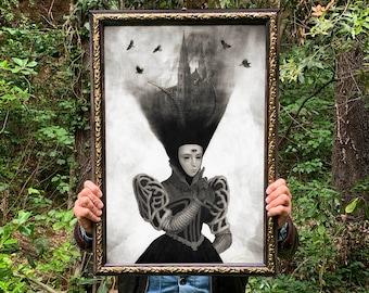 Silenti Imperium, Limited print edition fine art print presented in handmade Italian wood artisan frames.