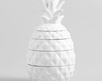 Ceramic Pineapple Measuring Cups Ceramic Measuring Cups Ceramic Measuring Cup Set Pineapple Decor Pineapple Gift Pineapple wedding gift
